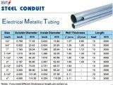 Tubulação de aço da canalização do Manufactory EMT de China