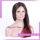 Perruque indienne de cheveux humains de Remy de Vierge de la meilleure qualité