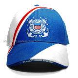 Gorra de béisbol de encargo del deporte del emparedado del bordado de la tela cruzada del algodón (TMB6224)