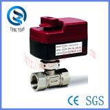 le laiton 3-Port a motorisé la soupape de commande de robinet à tournant sphérique pour la bobine de ventilateur