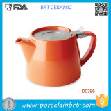 Teapot cerâmico por atacado com aço Infuser de Strainless