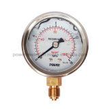 ステンレス鋼の底糸のタイプ液体によって満たされる圧力計