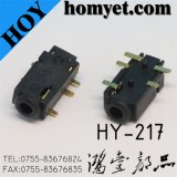 SMT Type 5 Pin Registration Mast를 가진 2.5mm 전화 플러그 구멍 Connector
