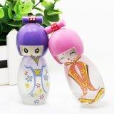 Botellas de perfume del vidrio de la forma del cuerpo lindo de la manera, tarro cosmético para el aceite de la fragancia