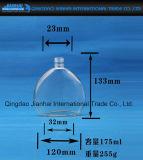 frasco de vidro do licor 200ml e de vinho com tampões mal ventilados