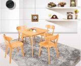 Tableau et présidence de café de grand dos en bois solide de 800*800mm