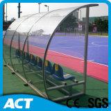 屋外の競技場、フットボール装置のためのサッカーの選手の避難所