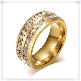 De Ring van het Roestvrij staal van de Toebehoren van de Manier van de Juwelen van het kristal (SR147)