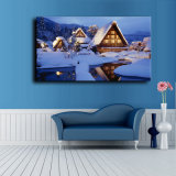 Wholesale 2016 Latest LED Light Oil Paintings on Canvas Christmas Snow - Covered Landscape