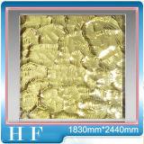 Tuiles de mosaïque martelées d'or de verre cristal de mur, verre cristal d'or de mosaïque d'effet de Bling