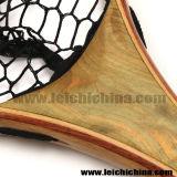 Rete di atterraggio di legno della trota di pesca di mosca della maniglia di nylon molle del Mano-Montaggio