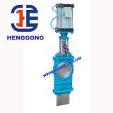 API/DIN Klep van de Poort van het Mes van het Water van het Handvat van het roestvrij staal de Pneumatische