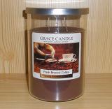 Paraffinwachs-gefüllte Glas-Kerze mit duftendem
