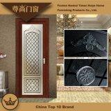 Porta de balanço de alumínio gravada do Casement do painel de vidro para a decoração da sala de visitas da casa