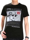 T-shirt fait sur commande de trois de couleur de mode d'écran d'impression de coton hommes de vente en gros
