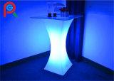 Mobília plástica quadrada de venda quente do diodo emissor de luz da tabela de Rigeba da tabela de cocktail do diodo emissor de luz do RGB