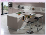 Gabinete de cozinha lustroso elevado UV moderno (ZX-007)