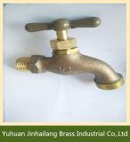1/2 facile installent le robinet d'eau sanitaire de nickel avec la poignée en T