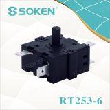 16A 250VAC (RT253-6)の力のロータリースイッチ
