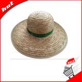 [سترو هت] كبيرة حافة يحمي قبعة [سون] قمح [سترو هت]