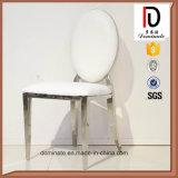ظهر مستديرة فندق [دين رووم] [ستينلسّ ستيل] بيضاء وسادة عرس كرسي تثبيت