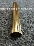 Het Heldere Gouden die het Anodiseren van 6000 Legering Aluminium van uitstekende kwaliteit om Buis wordt uitgedreven