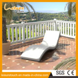 Outdoor Garden Patio Pool Furniture Rattan Wavy Shape Deck Chair Wicker Lying Lounge Bed