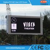 Tabellone per le affissioni fisso esterno della visualizzazione di LED di P4 HD SMD per la pubblicità