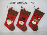 Meia do Natal de Santa, de boneco de neve e de alces