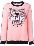 Sweatershirt de Ladie fait sur commande en broderie de tigre