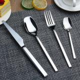 Комплект Cutlery ручки смола западной ложки вилки ножа золота нержавеющей стали типа установленный