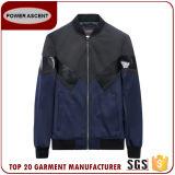 남자에서 대조 가죽을%s 가진 가장 새로운 디자인 형식 폭격기 재킷