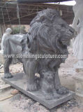 Lion, Carved Stone Lion et Marble de marbre Animals (SK-2186)