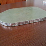 El panel de aluminio del panal de la fibra de vidrio posterior de la piedra