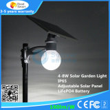 8W luz de calle solar integrada toda junta del jardín LED