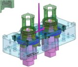 Modelagem por injeção plástica de desaparafusamento dobrável da elevada precisão do núcleo de 2 cavidades