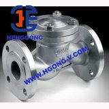 Válvula de verificação do aço inoxidável do balanço da flange da mola de DIN/ANSI/JIS