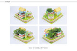 3D Keuterboertjes die van Puzzl van de Figuurzaag de ModelBouw van het Stuk speelgoed planten