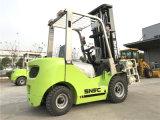 Forklift de papel Diesel da tonelada Fd30 Snsc da braçadeira 3 do rolo