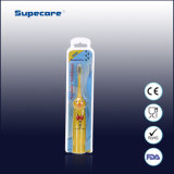 CE/RoHS/FDA Timer Sonicare Battery Operated Electric Toothbrush Cartoon Kid Toothbrush mit Battery Wy-D1301-02