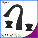 Fyeer Bathroom Black Widespread Faucet for Household and Hotel