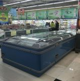 Charge statique économiseuse d'énergie refroidissant le congélateur combiné d'île pour l'épicerie