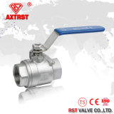 robinet à tournant sphérique à passage intégral d'acier inoxydable de 2PC 2000wog