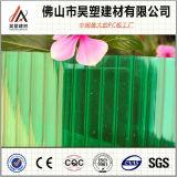 Groen van de viervoudig-Muur van het Polycarbonaat Hol van het Blad PC- Blad voor de Loods van het Fokken van Greenhouseand van de Landbouw