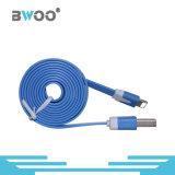 도매 다채로운 편평한 USB 케이블은 충전기 단식한다