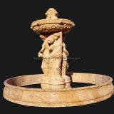 Fonte de pedra de mármore de 3 séries, fonte do jardim da água (XF400)