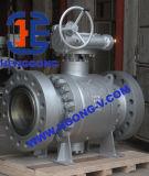 API/DIN forjó la vávula de bola del borde del acero A105 3piece