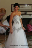 Rinestones 결혼 예복 끈이 없는 호화스러운 인어 신부 웨딩 드레스 Wd052