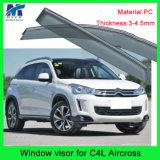 日曜日のクロム横窓のバイザーの出口はCitreon C4l Aircrossのための雨を守る