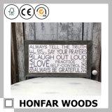 Decorazione di legno resa personale della cornice di arte della parete